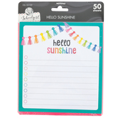 Schoolgirl Style, Hello Sunshine Notepad, 5.75 x 6.25 Inches, Multi-Colored, 50 Sheets