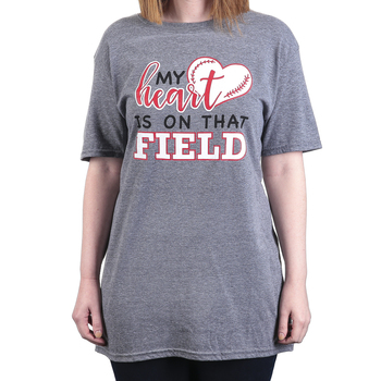 Rooted Soul, My Heart Is On That Field, Women's Short Sleeve T-Shirt, Graphite Heather, S-2XL