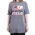 Rooted Soul, My Heart Is On That Field, Women's Short Sleeve T-Shirt, Graphite Heather, Small