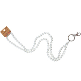 Iron Orchid Studio, ID Lanyard with White Pearl Beads, 38 Inches, 1 Piece