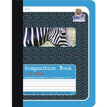 """Composition Book 1/2"""" Ruled"""
