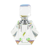 Crystal Faceted Perfume Bottle, 1 1/2 x 1 1/2 Inches