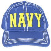 Operation Shockwave, Navy Baseball Cap, Adjustable, Blue, Yellow and White, One Size