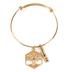Modern Grace, Proverbs 3:18 Tree Of Life Adjustable Bangle Bracelet, Zinc Alloy, Gold