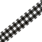 Farmhouse Lane Collection, Border Trim, 38 Feet, Gingham Print, Black and White