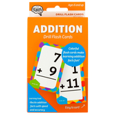 The Brainery, Addition Math Drill Flash Cards, 55 Cards, 3.25 x 5.25 Inches, Ages 6-10