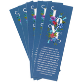 Salt & Light, 1 Corinthians 13:4-8 Love Is Patient Bookmarks, 2 x 6 inches, 25 Bookmarks