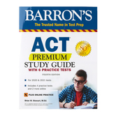 Barron's ACT Premium Study Guide with 6 Practice Tests, Book and Online, 4th Ed, Grades 10-12