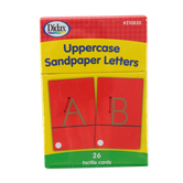 Didax, Tactile Sandpaper Uppercase Letters, Grades K-1, 26 Cards