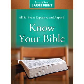 Know Your Bible Large Print Edition, by Paul Kent, Paperback