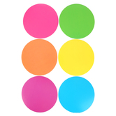 Renewing Minds, Neon Dots Large Cutouts, 6 inches, 36 Pieces