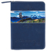 Divinity Boutique, Psalm 31:24 Flying Eagle Small Zippered Journal, Faux Leather, Navy, 160 Pages