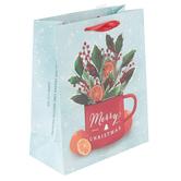 Renewing Faith, James 1:17 Merry Christmas Medium Gift Bag, 11 1/2 x 9 1/2 x 4 1/2 inches
