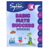 Sylvan Learning, Kindergarten Basic Math Success Workbook, Paperback, 128 Pages, Grade K