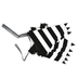 Bright Ideas, Striped Pennant Banner, Black and White, 82 inches