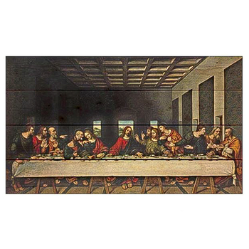 P. Graham Dunn, The Last Supper Pallet Artwork, Pine Wood, 24 x 14 inches