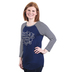 Rooted Soul, Fearfully and Wonderfully Made, Women's 3/4 Sleeve Raglan Top, Navy, X-Small