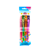 Big Kid's Choice, Nylon Chubby Flat Brush Set, 4 Pieces