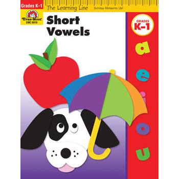 Evan-Moor, Learning Line Activity Book: Short Vowels, 32 Pages, Grades K-1