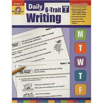Evan-Moor, Daily 6-Trait Writing Teacher's Edition, Paperback, 160 Pages, Grade 2