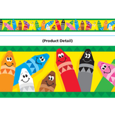 Trend, Wide Border Trim, 35 Feet, Colorful Crayons