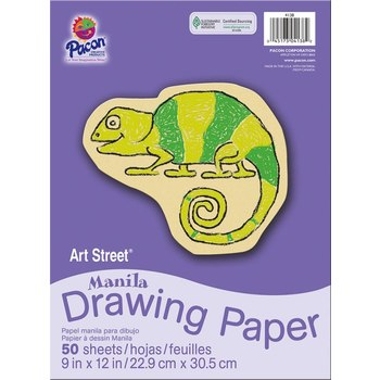 Art Street® Manila Drawing Paper, 9 x 12 inches, 50 Sheets