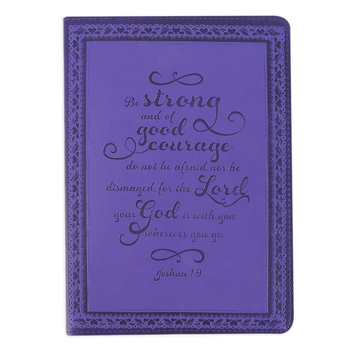 SoulScripts, Joshua 1:9 Be Strong Flexcover Journal, Purple, 6 x 8 1/2 inches, 360 pages