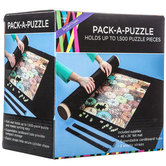 Brother Sister Design Studio, Pack a Puzzle Mat with Tube, Black Felt, 26 x 46 inches
