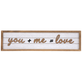 Studio His & Hers, Love Math Equation Wood Wall Decor, MDF,  6 x 23 x 5/8 Inches