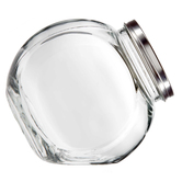 Tilt Canister, Glass, Clear, 71 Ounce, 6 x 3 1/2 x 7 1/2 inches
