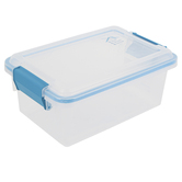 Sterilite, Gasket Box Sealed Storage Container, Clear & Blue, 7 1/2 Quarts, 13 1/2 x 9 x 6 inches
