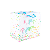 Brother Sister Design Studio, Rainbow Dot Birthday Gift Bag, Multiple Sizes Available