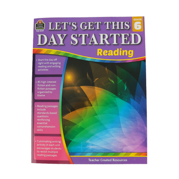 Teacher Created Resources, Let's Get This Day Started: Reading Grade 6, Paperback, 112 Pages, Grade 6