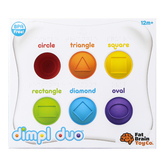 Fat Brain Toys, Dimpl Duo Baby Toy, 8 3/4 x 7 3/4 inches