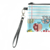 Brownlow Gifts, Teach Love Inspire Zippered Bag, Canvas, Multi-Colored with Apples, 8 1/2 x 5 inches