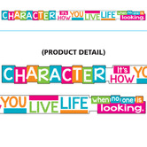 TREND Enterprises, Character It's How You Live, ARGUS Banner, 10 feet