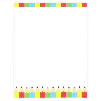 Renewing Minds, Colorful Pencils Letterhead, 8.5 x 11 Inches, Multi-Colored, 50 Sheets
