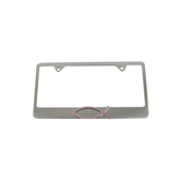 Elektroplate, Christian Fish License Plate Frame, Brushed Metal, Pink Crystal, 12 1/4 x 6 1/2 inches