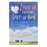 Renewing Faith, 1 Corinthians 13:4-8 Love Is Patient Pass Along Cards, 2 x 3 inches, Set of 10