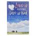 Renewing Faith, 1 Corinthians 13:4-8 Love Is Patient Pass Along Cards, 2 x 3 inches, Set of 10