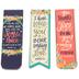 Salt & Light, Flower Pattern Magnetic Bookmarks, 6 Bookmarks