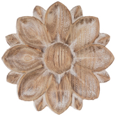 Rustic Round Wall Flower, Wood, Multiple Colors Available, 8 1/4 x 8 inches