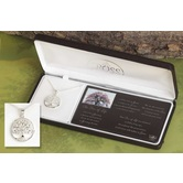 Dicksons, The Tree of Life Necklace, Silver Plated, 18 inches