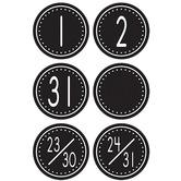 Teacher Created Resources, Crazy Circles Calendar Days, 2 1/2 x 2 1/2 inches, 36 Pieces