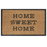 Home Sweet Home Doormat, Coir & Rubber, Tan & Black, 18 x 30 inches