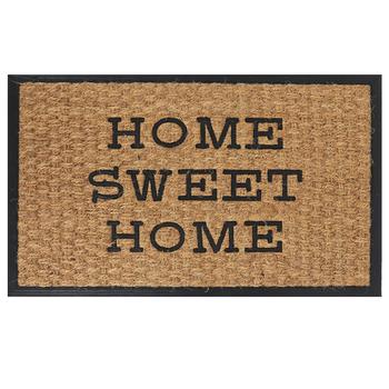 Home Sweet Home Doormat, Coir & Rubber, Tan & Black, 18 x 30 inches