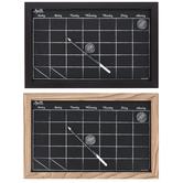 The Board Dudes, Wood Framed Magnetic Chalk Calendar, Oak or Espresso, 17 x 11 inches