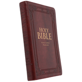 KJV Holy Bible, Thumb Indexed, Imitation Leather, Multiple Colors Available