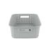 Sterilite, Short Weave Basket, Gray, 15 x 12.25 x 5.25 Inches, 1 Piece