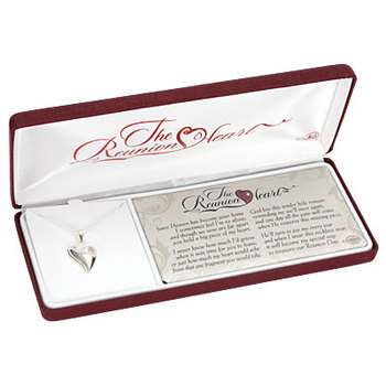 Dicksons, The Reunion Heart Necklace, Silver Plated, 18 inches